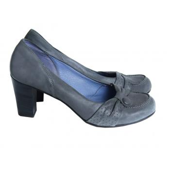 Туфли серые кожаные женские LAURA ROSA 38 размер