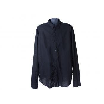 Рубашка черная мужская H & M, XL