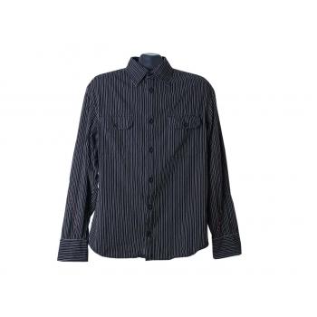 Рубашка черная в полоску мужская BIG STAR, М