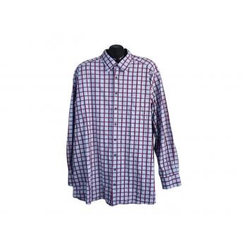 Рубашка голубая в клетку мужская OLYMP NOVUM, 4XL