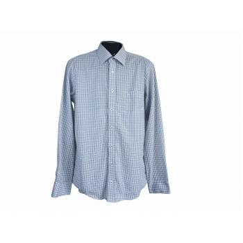 Рубашка белая в клетку мужская MODERN FIT CASA MODA, L