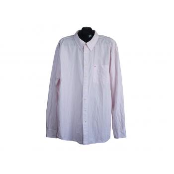 Рубашка мужская в розовую полоску TOMMY HILFIGER, XXL