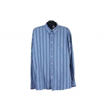 Рубашка голубая в полоску мужская CAMEL ACTIVE, 4XL