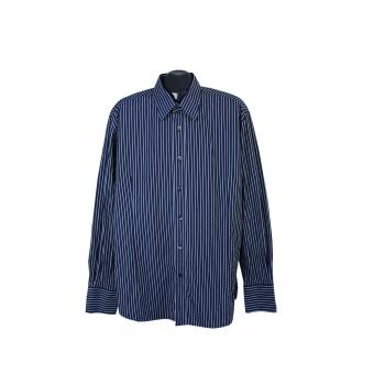 Рубашка в полоску синяя мужская JAKES, XL