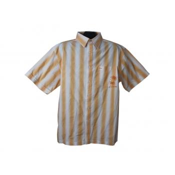Рубашка желтая в полоску MUCH MORE, XL
