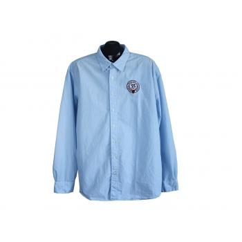 Рубашка голубая в полоску мужская BIAGGINI, XXL