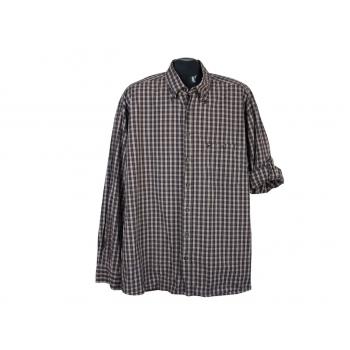 Рубашка коричневая в клетку мужская CAMEL ACTIVE, XL