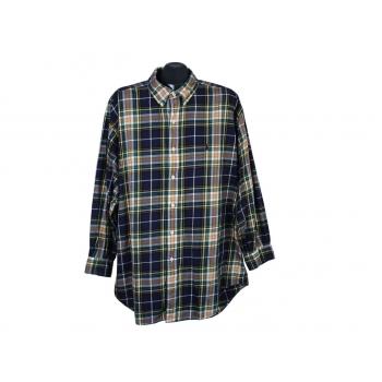 Рубашка зеленая в клетку мужская POLO by RALPH LAUREN, 3XL