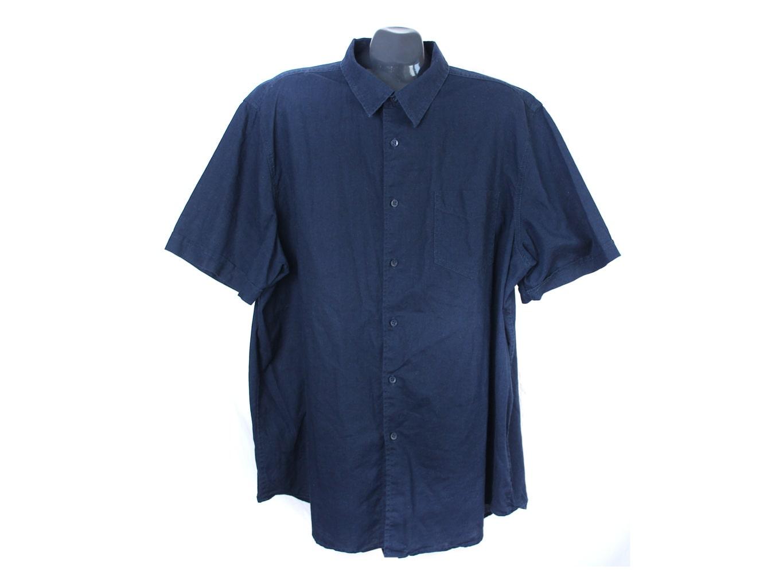 Рубашка льняная мужская синяя STONE BAY, XXL