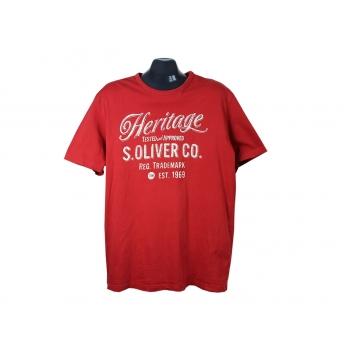 Мужская красная футболка HERITAGE S.OLIVER, XL