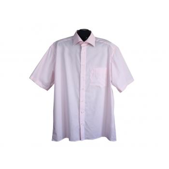 Рубашка однотонная розовая мужская LUXOR OLYMP, XL