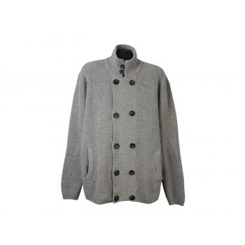 Кардиган шерстяной на пуговицах мужской H&M, XL
