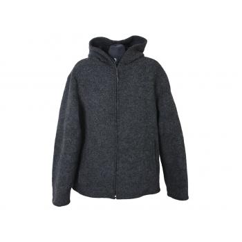 Куртка шерстяная с капюшоном осень весна мужская BENETTON, L