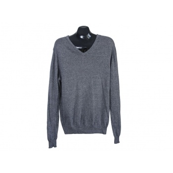 Пуловер мужской тонкий серый H&M, М