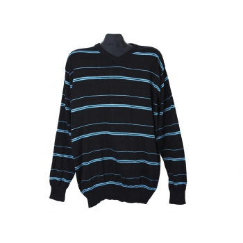 Пуловер из хлопка в полоску мужской ANGELO LITRICO, L