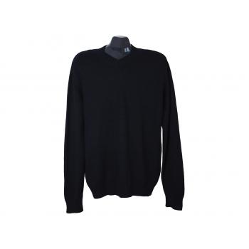 Пуловер шерстяной мужской черный REPLAY BLUE JEANS, L