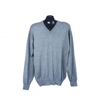 Пуловер шерстяной мужской серый BEXLEYS, XL
