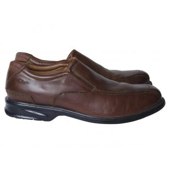 Туфли кожаные коричневые мужские CLARKS 44 размер
