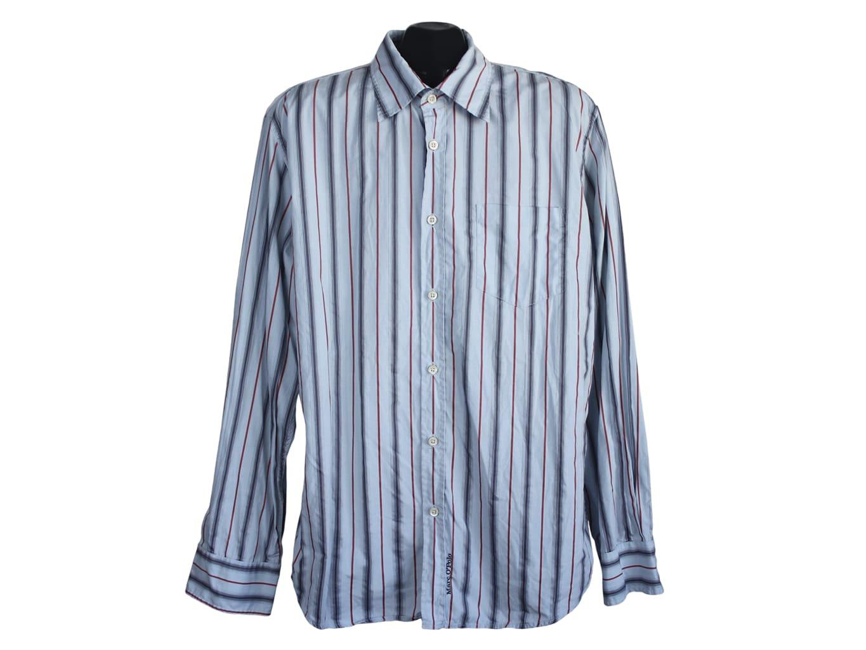 Мужская голубая рубашка в полоску MARC O.POLO, L