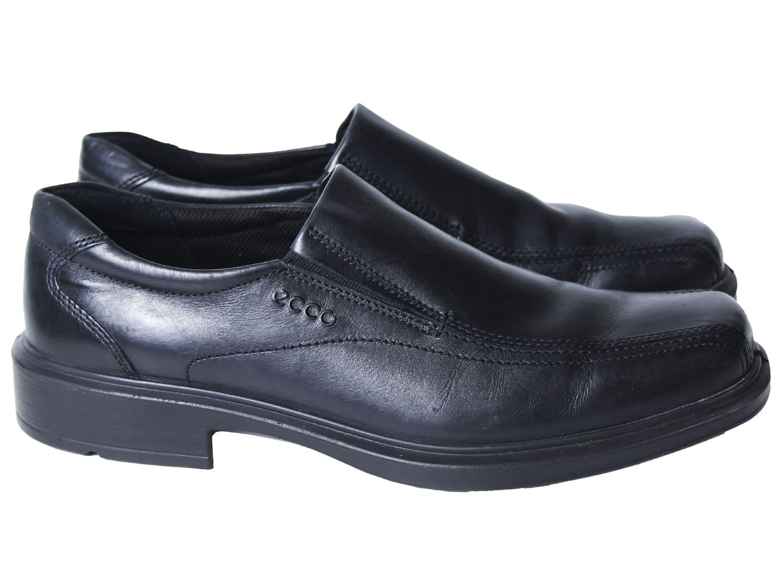 Туфли кожаные мужские черные ECCO 42 размер