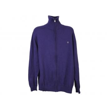 Кофта на молнии мужская фиолетовая BASEFIELD, XL