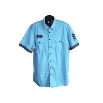 Рубашка голубая мужская ANGELO LITRICO VINTAGE DEPT, XXL