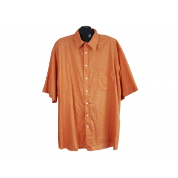 Рубашка льняная мужская оранжевая ANGELO LITRICO, 4XL