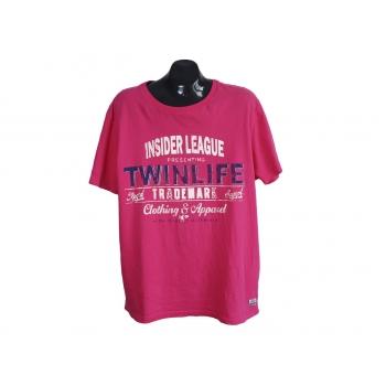Мужская розовая футболка с принтом TWINLIFE, XL