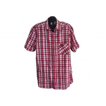 Рубашка мужская красная в клетку PULSE, XXL