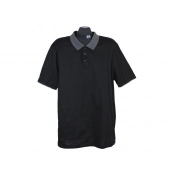 Поло мужское черное DRESSMANN, XL