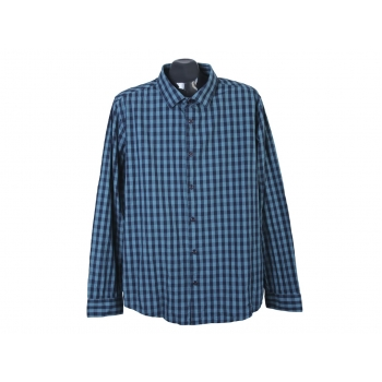 Рубашка в клетку зеленая мужская JEAN PASCALE, XL