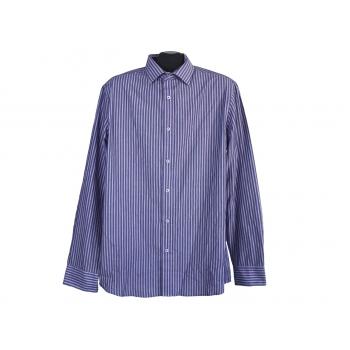 Рубашка фиолетовая в полоску мужская F&F TAILORED FIT, M