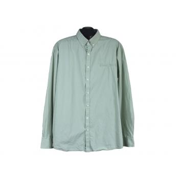 Рубашка однотонная зеленая мужская MANGUUN, XXL