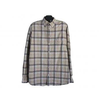 Рубашка коричневая в клетку мужская S.OLIVER, XL