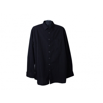 Рубашка черная в полоску мужская EASY CARE CHARLES VOEGELE, XL