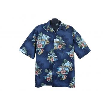 Рубашка гавайская синяя мужская SADDLEBRED, XXL