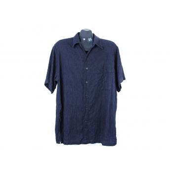 Рубашка черная мужская льняная RON CHERESKIN, XL