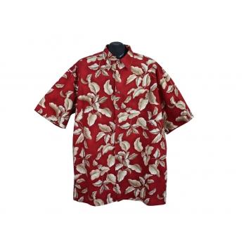 Рубашка гавайская красная мужская SADDLEBRED, XXL