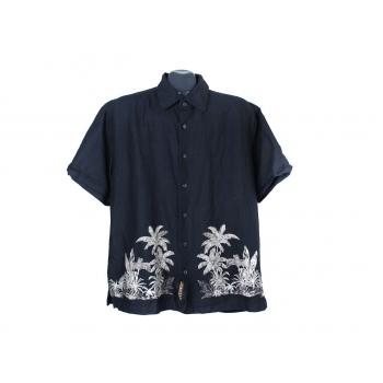 Рубашка гавайская черная мужская CUBAVERA, XL