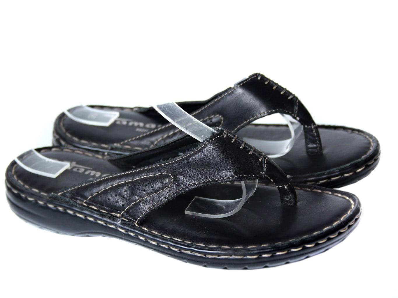 Босоножки женские кожаные черные TAMARIS 36 размер