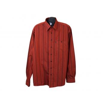 Рубашка коричневая в полоску мужская ENGBERS, 3XL