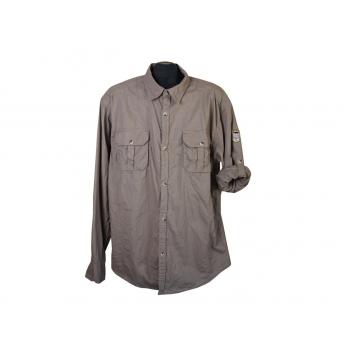 Рубашка коричневая мужская OKAY, L