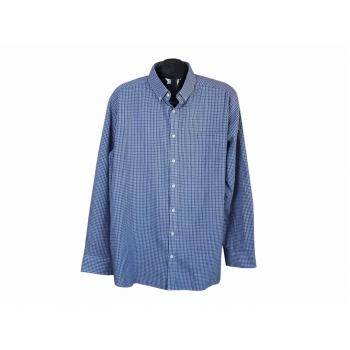 Рубашка синяя в клеточку мужская ANGELO LITRICO, XXL