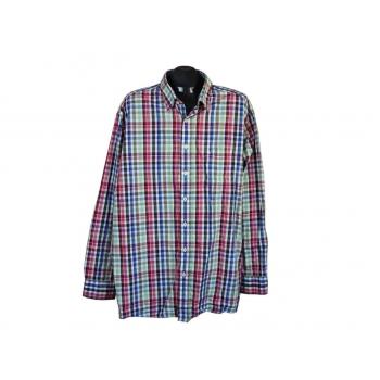 86acd729a34 Рубашка в цветную клетку мужская COMFORT FIT CASA MODA