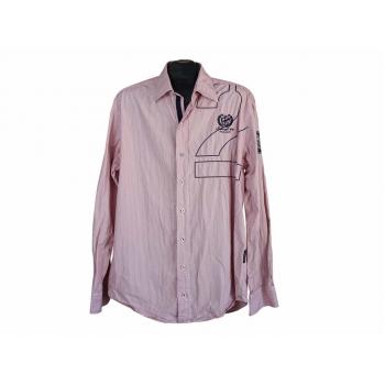 Рубашка розовая в полоску мужская STATE OF ART, L