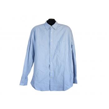 Рубашка голубая в полоску мужская CHARLES TYRWHITT, XL