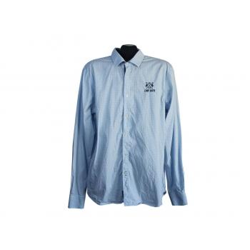 Рубашка голубая мужская REGULAR FIT CAMP DAVID, L