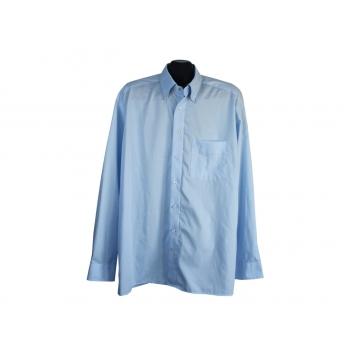 Рубашка голубая однотонная мужская OLYMP LUXOR, XL