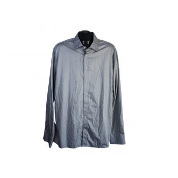 Рубашка серая однотонная мужская SLIM FIT PURE, XL