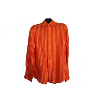 Рубашка льняная оранжевая мужская POLO RALPH LAUREN, М